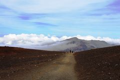 Slinga på vulkan, Maui Arkivbild