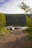 Slinga som tystar sjön Arkivbilder