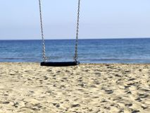 Slinger bij het strand Stock Afbeelding