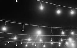Slinger met gekleurde lichten, decoratieve verlichting, achtergrond royalty-vrije stock foto