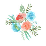 Slinger van bloemen watercolor Royalty-vrije Stock Fotografie