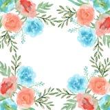 Slinger van bloemen watercolor Royalty-vrije Stock Afbeeldingen