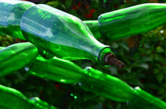 Slinger van glasflessen champagne Royalty-vrije Stock Afbeeldingen