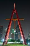 Slingerbeeldhouwwerk Dallas stock foto
