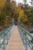 Slingerende brug in Jay Cooke State Park in de Herfst stock afbeelding