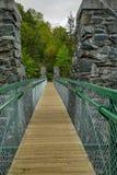 Slingerende brug in Jay Cooke State Park in Minnesota royalty-vrije stock foto's