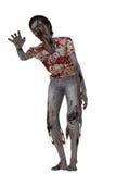 Slingerende zombie met uitgestrekte hand Stock Afbeelding