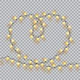 slingers De decoratielichteffecten van de valentijnskaartendag vector illustratie