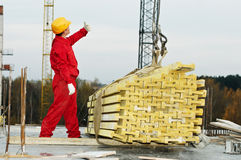 Slinging builer with framework stock photo