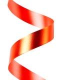 slingra rött band arkivbild