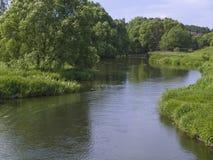 slingrande flod Royaltyfria Foton