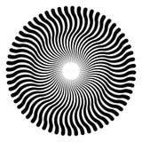 Slingrande linjer som bildar en rund modell stock illustrationer