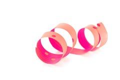 Slingrande rosa band Royaltyfri Bild
