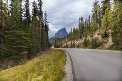 Slingrig bergväg Arkivbilder