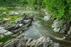 Slingrig flod Royaltyfria Bilder
