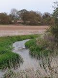 Slingrig flod arkivbild