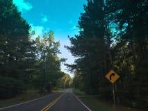 Slingrig landsväg fotografering för bildbyråer