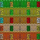 Slingringargrektangenten gränsar sömlös patterm för vektorn Färgrikt orange Stock Illustrationer