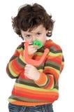 slingshot мальчика Стоковые Изображения RF