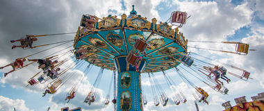 Slingshot. At fair in summer time stock photo