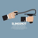 Slingshot In Hand Stock Image