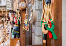 Slingshot for a souvenir, Arachova, Greece Royalty Free Stock Image