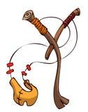 Slingshot Vector Illustration. Royalty Free Stock Photography