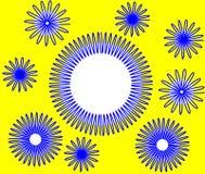 Slinky круги голубые Стоковое Изображение RF