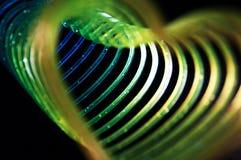 Slinky сердца форменное Стоковые Изображения
