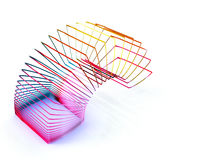 Slinky. Square slinky spring toy isolated on a white background Royalty Free Stock Photography