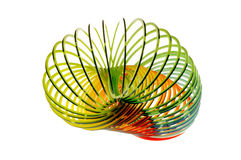 Slinky. Plastic Slinky coiled stock photography
