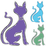 Slinky Cat Profile stock illustration