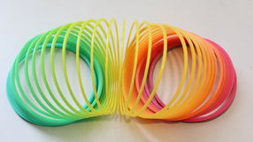 Slinky Rainbow Royalty Free Stock Images