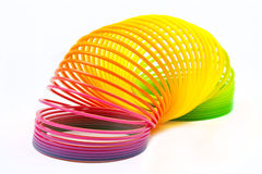 Slinky Toy. Over a plain white background royalty free stock photography