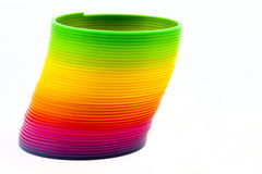Slinky Toy. Over a plain white background royalty free stock photos