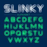 Slinky toy alphabet Royalty Free Stock Photography