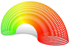 Slinky. Toy with shadow on white background Royalty Free Stock Photo