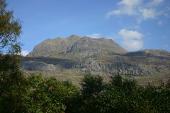 Slioch no Loch Maree Imagens de Stock