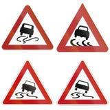 Slip Danger Signs In Germany Stock Photos