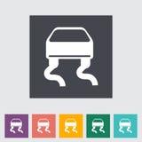 Slip-indicator. Single flat icon. Vector illustration Royalty Free Stock Images