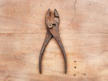 A slip joint pliers stock photos