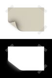 Slip of paper. 3d rendered slip of paper with opacity mask for easily use Stock Image