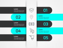 Slip Paper Infographics. Simple Slip Paper Infographics for Presentations Business, Marketing, Industries with 5 option Royalty Free Stock Photography