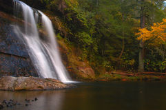 Slip Rock Falls. A waterfall found in the Northwest part of North Carolina Royalty Free Stock Photos