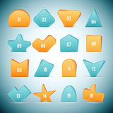 Slip Shape Web Elements. Vector illustration of various shapes of paper styled web elements Royalty Free Stock Photography