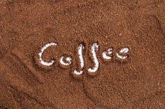 Slipad kaffebakgrund Arkivbilder