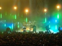 Slipknot выполняя в Глазго стоковые фотографии rf