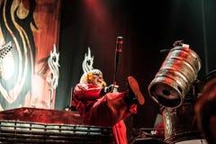 Slipknot concert. American heavy-metal band Slipknot performing at Olimpiyski stadium, Moscow during Memorial World Tour royalty free stock image