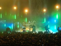 Slipknot spełnianie w Glasgow zdjęcia royalty free