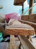 Slipknot. Diy wood plalet bored slipknot stock photography